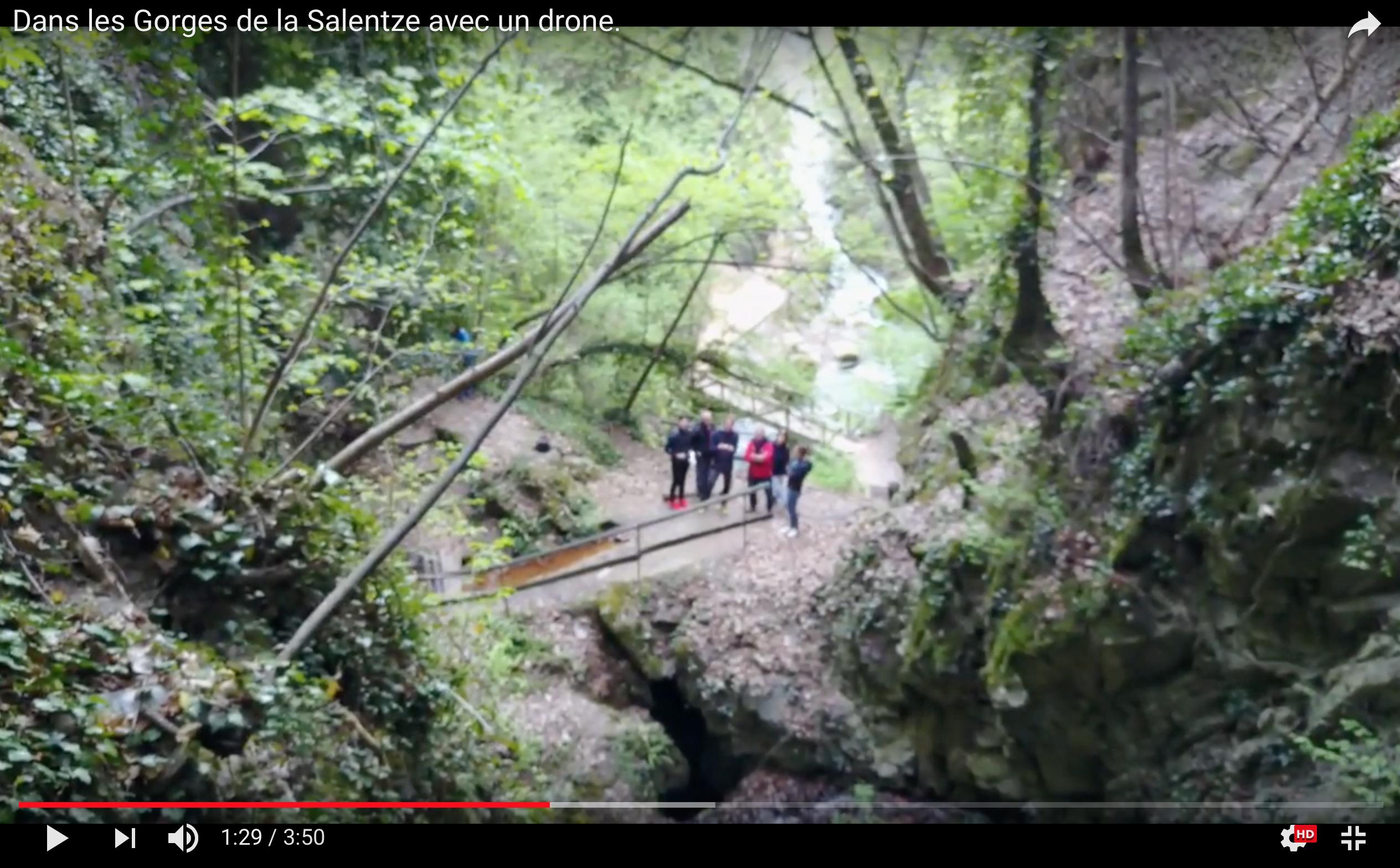 Dans les gorges de Saillon avec un drone