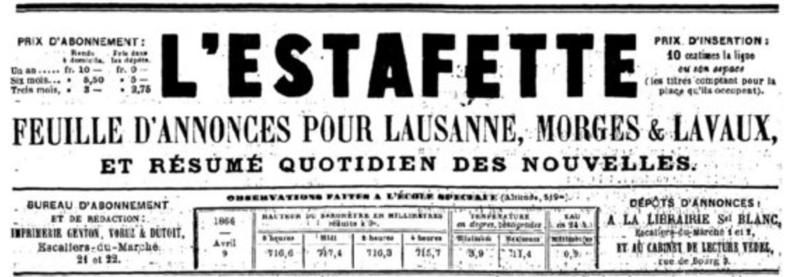 L'Estafette de Lausanne