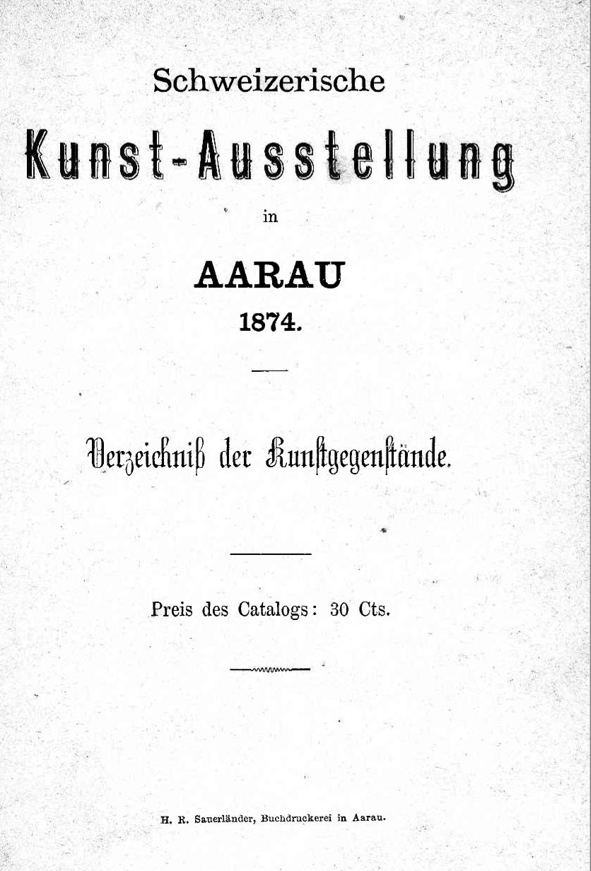 Ausstellung Aarau 1874 Tournus
