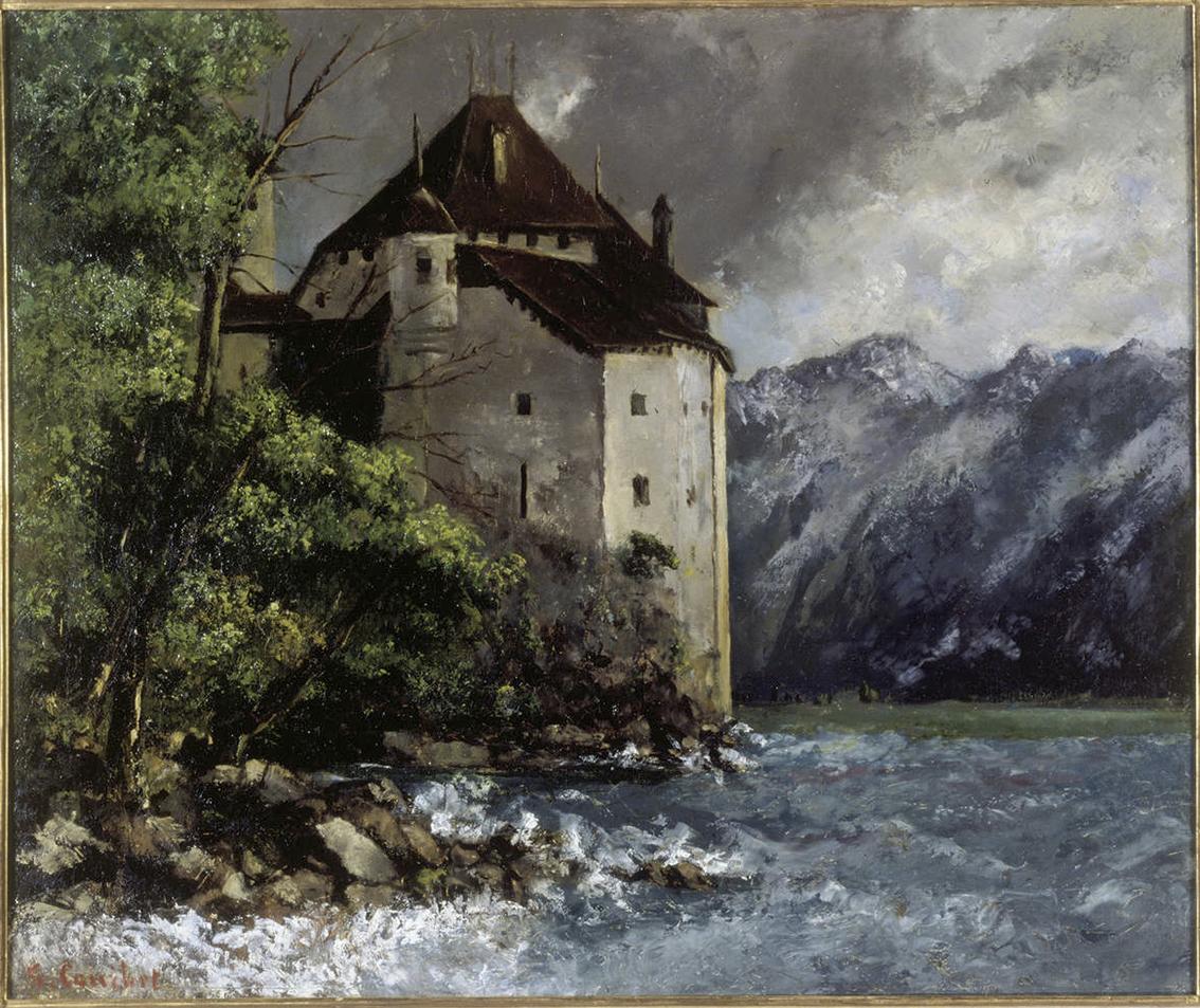 Le Château de Chillon par Gustave Courbet, 1875