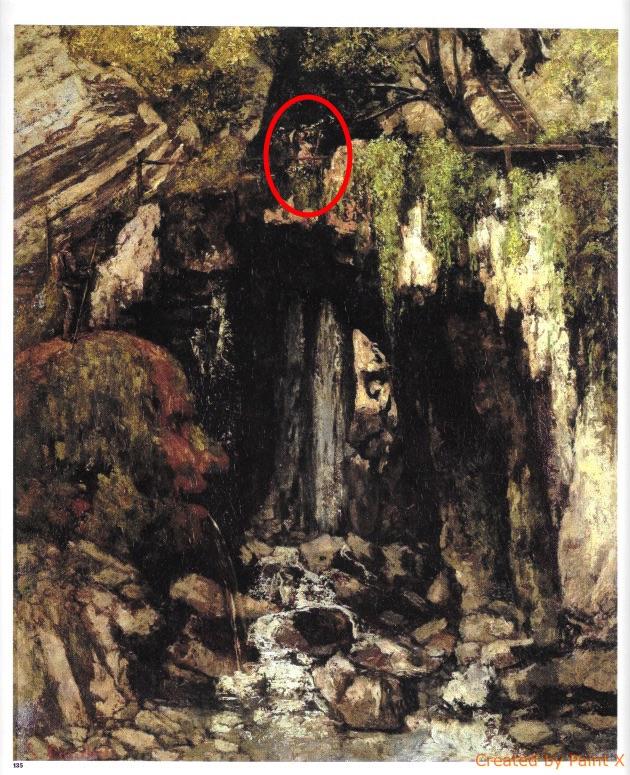 Caverne des géants / Localisation de la dame à l'ombrelle