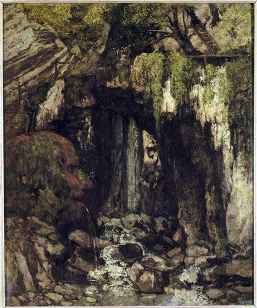 Caverne des Géants de Saillon peinte par Gustave Courbet