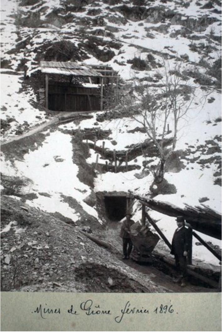 Mines de Grône en Valais (1896 février)