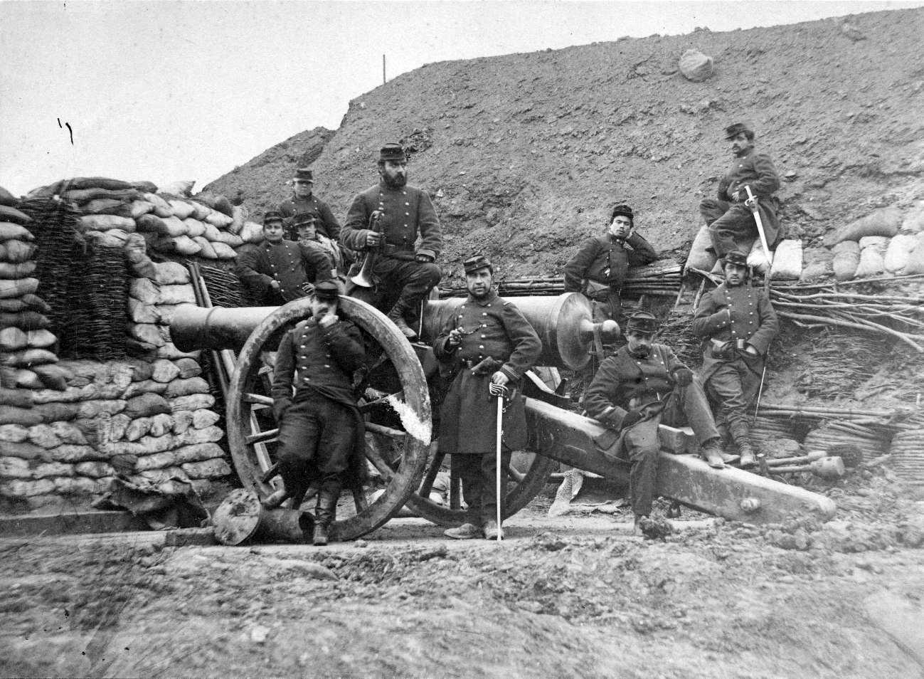 Soldats français pendant la guerre de 1870