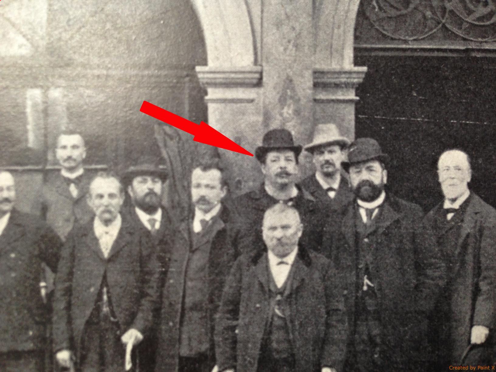 Jules Ducrey et le Comité Central de la Fédération des Sociétés de Secours Mutuels de la Suisse Romande.